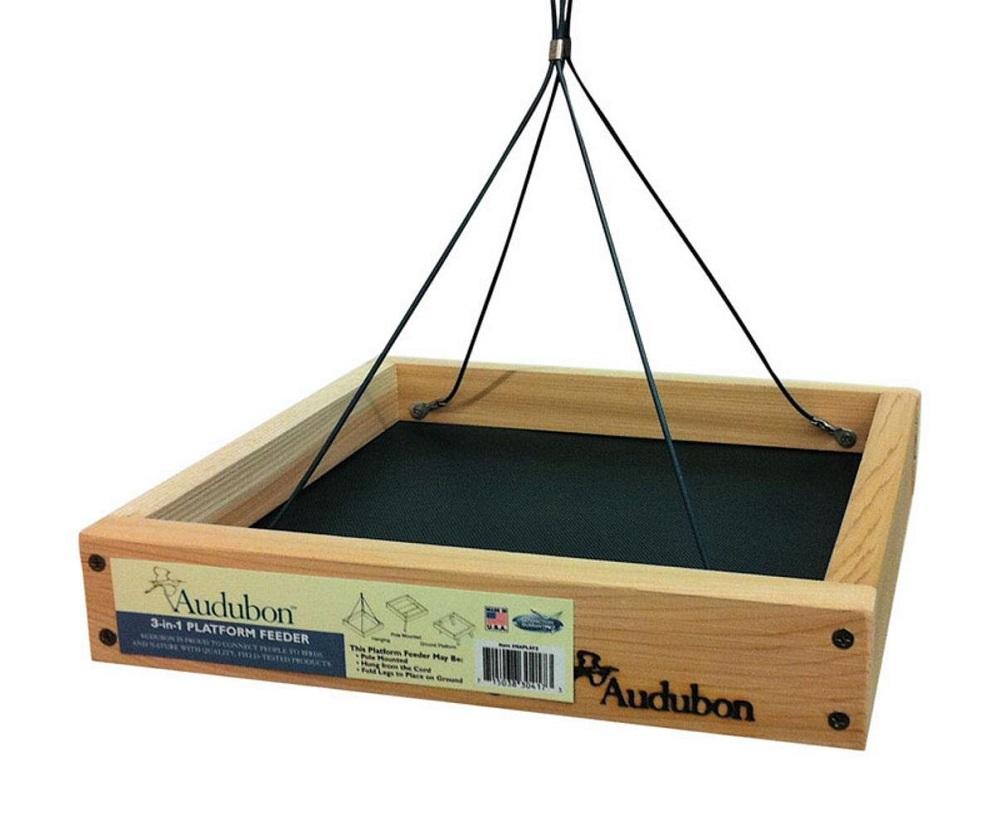 The Woodlink Audubon 3 in 1 platform bird feeder