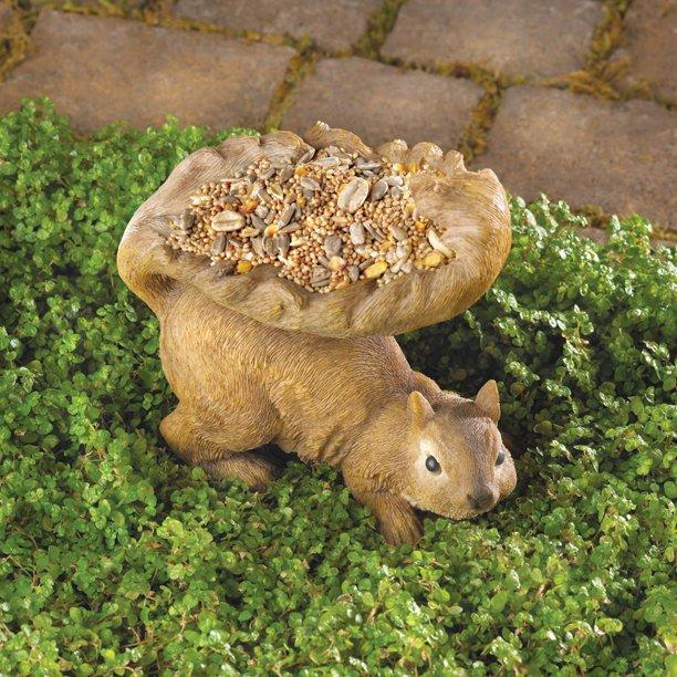 garden squirrel feeder by Songbird Valley